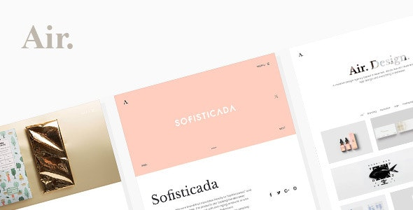 Air Lightweight Portfolio WordPress Theme