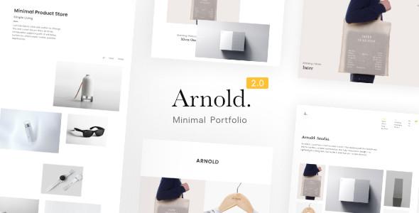 Best Minimalist Portfolio WordPress Theme - Arnold